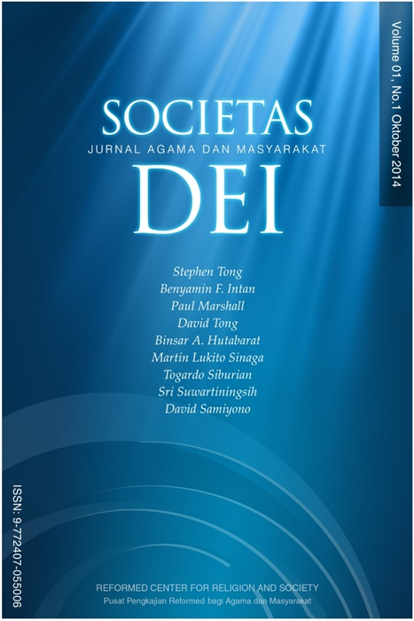 Societas Dei Vol.1 No.1 2014